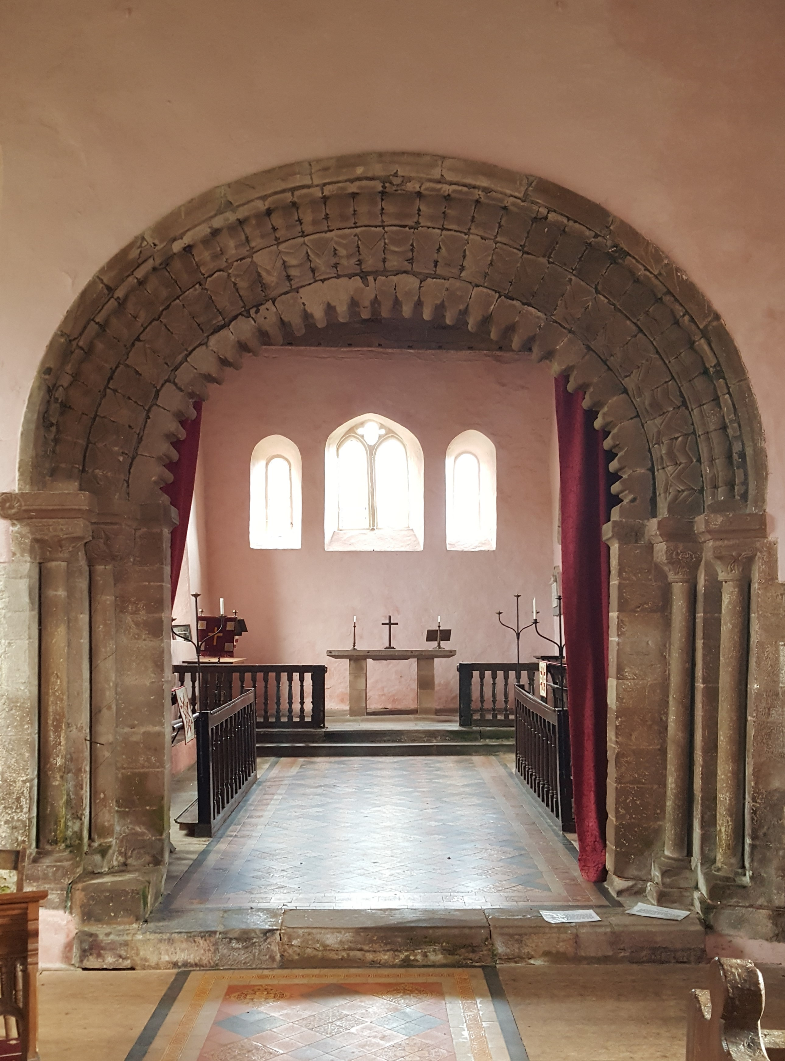 chancel arch, templar church garway
