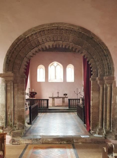 chancel arch, templar church garway